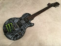 Itm In This Moment Band Signed Autograph Monster Energy Guitar All 5 Maria Brink