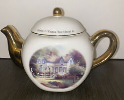 New Day Dawning Thomas Kinkade Teapot Home Is Where The Heart Is