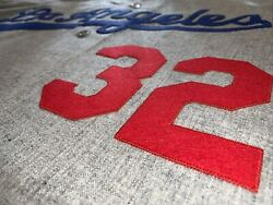 Mitchell And Ness Los Angeles Dodgers 1963 Sandy Koufax 32 Authentic Grey Jersey