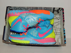 Nike Kyrie 6 Pool Gs Shoes Size 6 Youth = Size 7.5 Women Cz4686-409 Blue / Pink