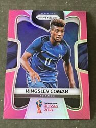 2018 Panini Prizm World Cup Kingsley Coman Pink Refractor Ssp 5/8 Rare France Sp