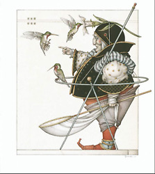 Michael Parkes Collector - The Hummingbird Collector - Cert Of Auth Provided