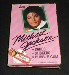 Vintage 1984 Topps Michael Jackson Trading Cards Box 36 Sealed Wax Packs