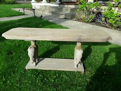 Antique African Nigerian Mahogany Elephant Table Bench Weathered Organic 1930s