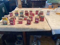 Lot Of 29 Vintage Metal Spice Tins Cooking Spices 1930-1940-1950-1960-1970