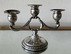 915 Revere Sterling Silver 3 Arm Candelabra Weighted