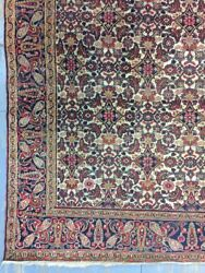 Antique Old Used Handmade Wool Rug Carpet Shabby Shabby Chicsize12.5 By 5.2ft