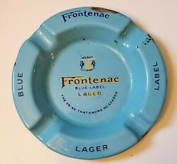 Frontenac Blue Label Lager Beer Ashtray Vintage Breweriana -- Montreal Canada