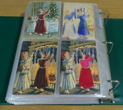 Antique 1900and039s Postcard Album 545 Holiday Postcards.