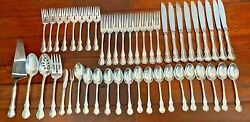Towle Sterling Silver Flatware Set French Provincial 48 Pieces No Monogram