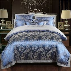 Silk Cotton Bedding Set Embroidery Bed Lines Linen Bedspread Queen King Size