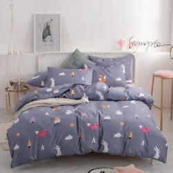 Bedding Set Pure Cotton A/b Double-sided Bed Sheet Quilt Cover Pillowcase 4-7pcs