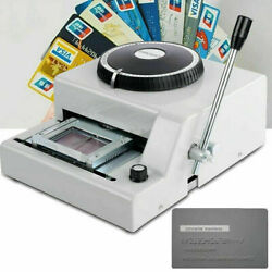 72 Character Letter Manual Embosser Stamping Machine Pvc Credit Card Diy 2021