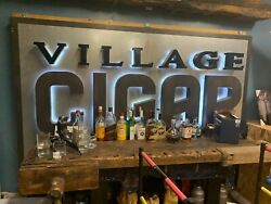 Vintage Village Cigar Neon Store Display Sign Rare