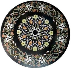 42 Marble Dining Table Top Inlay Rare Semi Round Center Coffee Table Ar1297