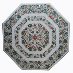 42 Marble Dining Table Top Inlay Rare Semi Antique Center Coffee Table Ar1345