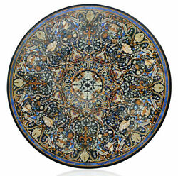42 Marble Dining Table Top Inlay Rare Semi Round Center Coffee Table Ar1294