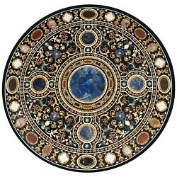 42 Marble Dining Table Top Inlay Rare Semi Round Center Coffee Table Ar1306