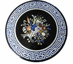 42 Marble Dining Table Top Inlay Rare Semi Round Center Coffee Table Ar1301