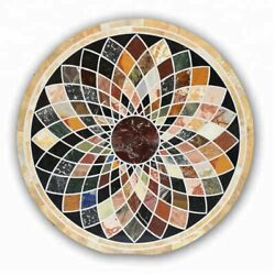 42 Marble Dining Table Top Inlay Rare Semi Round Center Coffee Table Ar1299