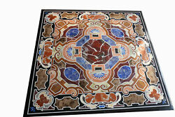 42 Marble Dining Table Top Inlay Rare Semi Antique Center Coffee Table Ar1337