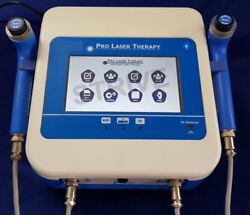 2 Probes Low Level Laser Therapy Red And Ir Touch Screen Display Professional Unit