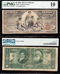 1896 2 Educational Silver Certificate Pmg 10 Free Shipping 2163624