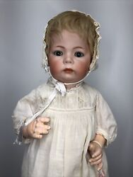 18.5andrdquo Antique German Simon And Halbig K Star R 115 A Baby Bisque And Compo Doll L