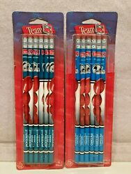 2 Packages Of Berol Nfl Team Pencils Jaguars And Panthers New/old Stock