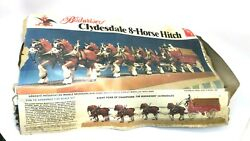 Amt Budweiser Clydesdale 8 Horse Hitch Wagon Model 7702 1/20 Scale 30