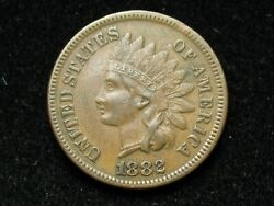 Blow Out Sale Xf 1882 Indian Head Cent Penny W /full Liberty And Diamonds 30