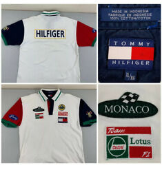 Mens Xl Vintage Lotus Racing Polo Shirt Spell Out F1 Castrol Vgc