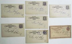1877 Lot Of 7 1st National Bank Pomeroy Ohio Antique Statement Cards Postcards