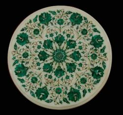 2and039x2and039 Marble Table Top Antique Malachite Corner Coffee Creative Inlay Stone W121