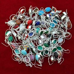Wholesale Lot Choose Your Pair Multi Gemstone 925 Silver Plated Earrings Jewelry