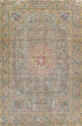 Antique Floral Traditional Wool Area Rug Evenly Low Pile Handmade 10x13 Carpet