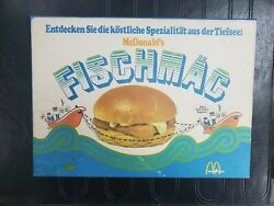 Vintage Mcdonalds Fast Food Restaurant German Fishmac Sign Lot Of 2