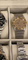 Omega Constellation Automatic Chronometer 18k Gold Half Bar/ss Mens Watch