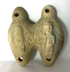 Rare Middle Eastern Prehistoric Wall Attachment With Figure I-ii Mil Bc