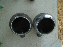 1940and039s International Truck Headlight Bucket Pair W/ Stands Hot Rod Ford Chevy