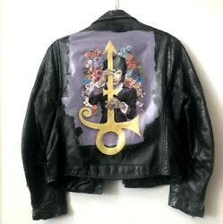And The Revolution- Hand-painted Leather Jacket, Size 36 Unisex