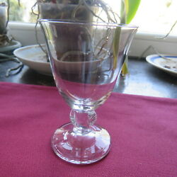 1 Glasses Wine White Or Porto Crystal Daum Model Orval Signed H 3 11/16in