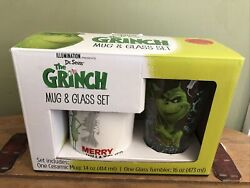 Set Of 2 Dr. Suess Illumination Studios Glass And Mug Cup New In Box