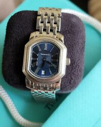 Rare And Co. Mark Stainless Steel Resonator Watch Blue Dial Quartz And