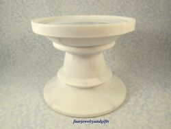 Bath amp; Body Works White Marble Pedestal 3 Wick Candle Holder NEW