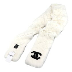 Orylag Real Fur Scarf Rabbit White Black Accessory 90123699