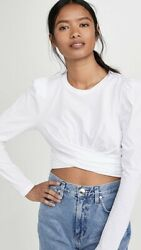 A.l.c. Mandy Tee Too White Tie Back Blogger Minimal S Nwt 150