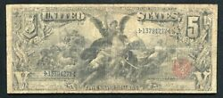 """Fr. 268 1896 5 Five Dollars """"educational"""" Silver Certificate Currency Note"""
