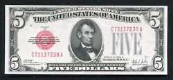 Fr. 1526 1928-a 5 Five Dollars Legal Tender United States Note Uncirculated