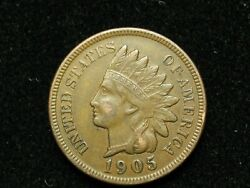 Must Go Sale Xf 1905 Indian Head Cent Penny W/ Full Liberty And Diamonds 200w